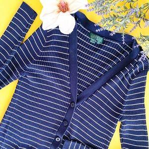 Ralph Lauren Navy Blue Button Down Caridigan